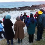The Easter Sunrise Service 2013 at the beach in front of the Manse.