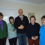 Rev. Paul Beautyman (Presbytery Youth Advisor) with Sunday School Teachers and Rev. Elspeth MacLean
