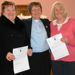 Rev. Elspeth with new elders, Annette MacKinnon and Elspeth Gillies